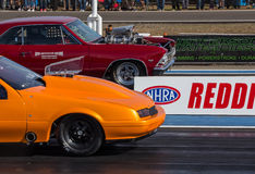 Facing off on the Dragstrip Stock Image