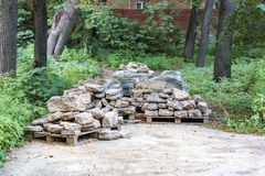 Facing stones on a pallet Stock Photo