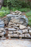 Facing stones on a pallet Stock Photography