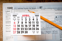 Facing the Tax Deadline Royalty Free Stock Photography