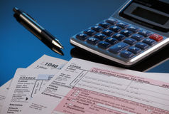 Facing tax time Royalty Free Stock Photo