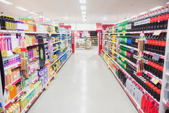 Facing view of an aisle Stock Photo