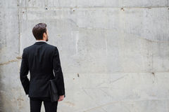 Facing a wall. Stock Image