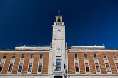 Facist样式政府大厦,恩纳,西西里岛,意大利 免版税库存图片