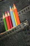 fack för 3 blyertspennor Royaltyfria Foton