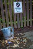 Fack för rökningsområde Royaltyfria Foton