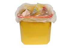 Fack med avfall (avskrädefacket) arkivbild