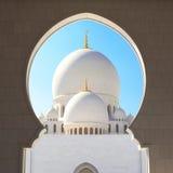Fack Zayed Grand Mosque Fotografering för Bildbyråer