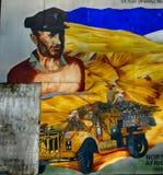 Fackföreningsmedlemväggmålning, Newtownards som är nordlig - Irland royaltyfri foto