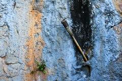 Facklan på väggkalkstengrottorna Arkivfoton