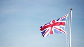 Facklig flagga för UK (Union Jack) arkivfilmer