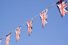Facklig flaggaBunting, England Fotografering för Bildbyråer