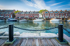 Facklig hamnplats, på Harborfronten i Boston, Massachusetts Arkivbild