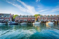 Facklig hamnplats, på Harborfronten i Boston, Massachusetts Royaltyfria Bilder