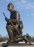 Facklig soldat Statue Royaltyfri Foto
