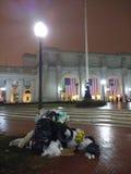 Facklig station, avskrädehög som följer den 58th presidents- invigningen, invigningen av Donald Trump, Washington, DC, USA Arkivbilder