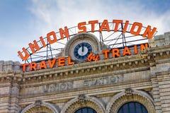 Facklig station i Denver Arkivbild