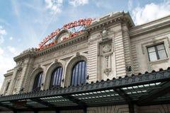 Facklig station i i stadens centrum Denver, Colorado Royaltyfria Foton