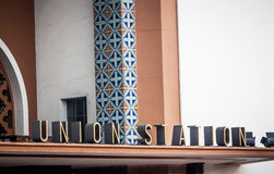 Facklig station, Los Angeles Arkivbilder