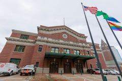 Facklig station, som är en tidigare drevstation i Seattle, Washington, USA royaltyfria foton