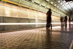 Facklig stationstunnelbanastation i Washington DC Arkivbilder
