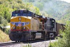 Facklig Stillahavs- lokomotiv royaltyfria foton
