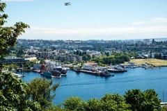 Facklig torr skeppsdocka för sjö Arkivbild