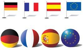 fackliga europeiska flaggor Royaltyfria Bilder