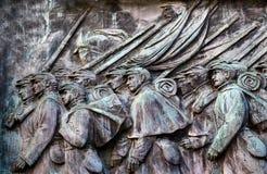 Fackliga soldater som laddar den anslags- statyn minnes- Capitol Hill Wa för US Royaltyfri Bild