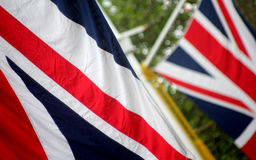 Fackliga stålarflaggor Arkivbilder