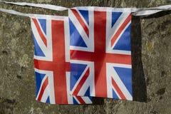 Fackliga stålarflaggor royaltyfria bilder