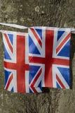 Fackliga stålarflaggor arkivfoto