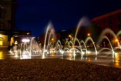 Fackliga stationsspringbrunnar Royaltyfria Bilder