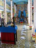 fackluc tempel vietnam arkivbild
