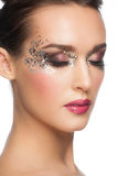 Facny Glitter Makeup Stock Photo