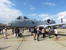 Facoquero A10 en el Airshow Fotos de archivo libres de regalías