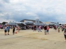 Facoqueros A10 en el Airshow Imagen de archivo