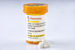 Facsimile Hydrocodone Prescription Stock Photography