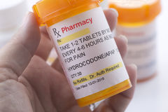 Facsimile Hydrocodone Prescription Royalty Free Stock Photo