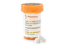 Facsimile Hydrocodone Prescription Royalty Free Stock Photos