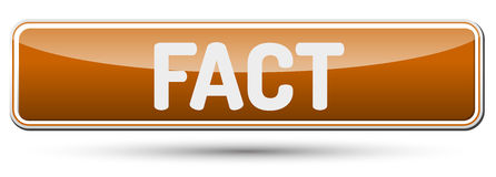 FACT - Abstract beautiful button with text. Stock Photography