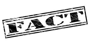 Fact black stamp Royalty Free Stock Photography