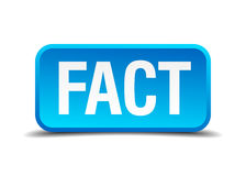 Fact blue 3d realistic square button Royalty Free Stock Photo