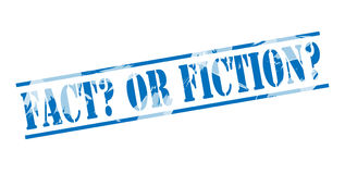 Fact or fiction blue stamp Royalty Free Stock Image