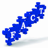 Fact Puzzle Shows Truth And Reality. Fact Puzzle Shows Truth, Reality And Actuality Royalty Free Stock Photo