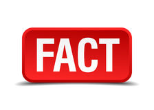 Fact red 3d square button Royalty Free Stock Photos