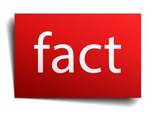 Fact red square paper sign on white Royalty Free Stock Images