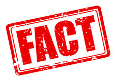 FACT red stamp text Stock Photos
