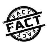 Fact rubber stamp Royalty Free Stock Photos