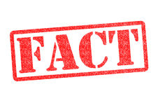 FACT Rubber Stamp Royalty Free Stock Photo